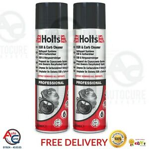 Holts-EGR-amp-Carb-Cleaner-Petrol-Diesel-Engines-Removes-Dirt-Grease-Fast-500ml-x2