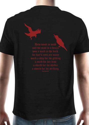 Battle Merchant T-shirt My God Is Odin Manches Courtes Col Rond Noir S-XXL