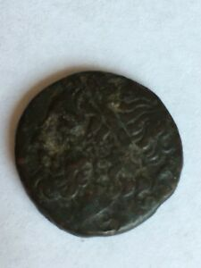 ANCIENT-SICILY-SYRACUSE-HIERON-II-TRIDENT-amp-DOLPHINS-COIN
