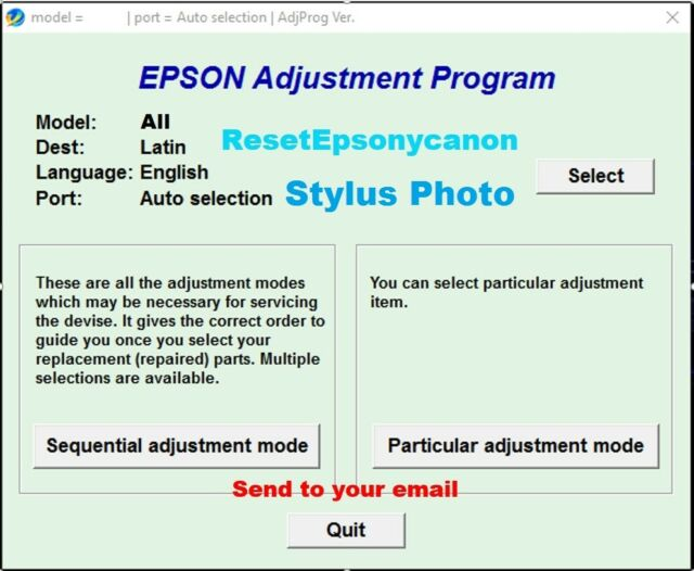 Reset waste Ink Pad counter Epson SP1390, SP1410,1430, 1500W- ERROR  comunication
