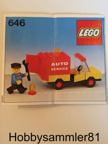Lego® 646 Town Bauanleitung Auto Service
