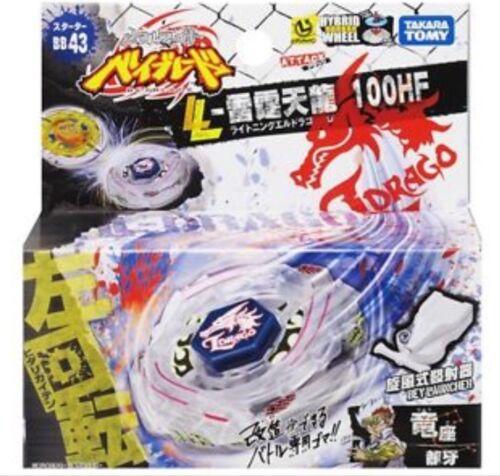 Takara Tomy Beyblade Metal Fight BB-43 Lightning L Drago 100HF Starter Pack USA