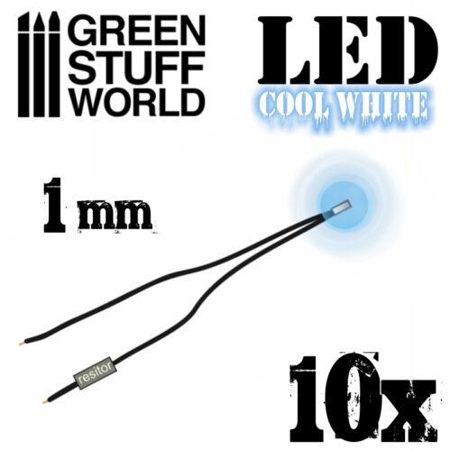 Cold WHITE micro LED Lights Scenery Miniature lighting train infinity 1mm
