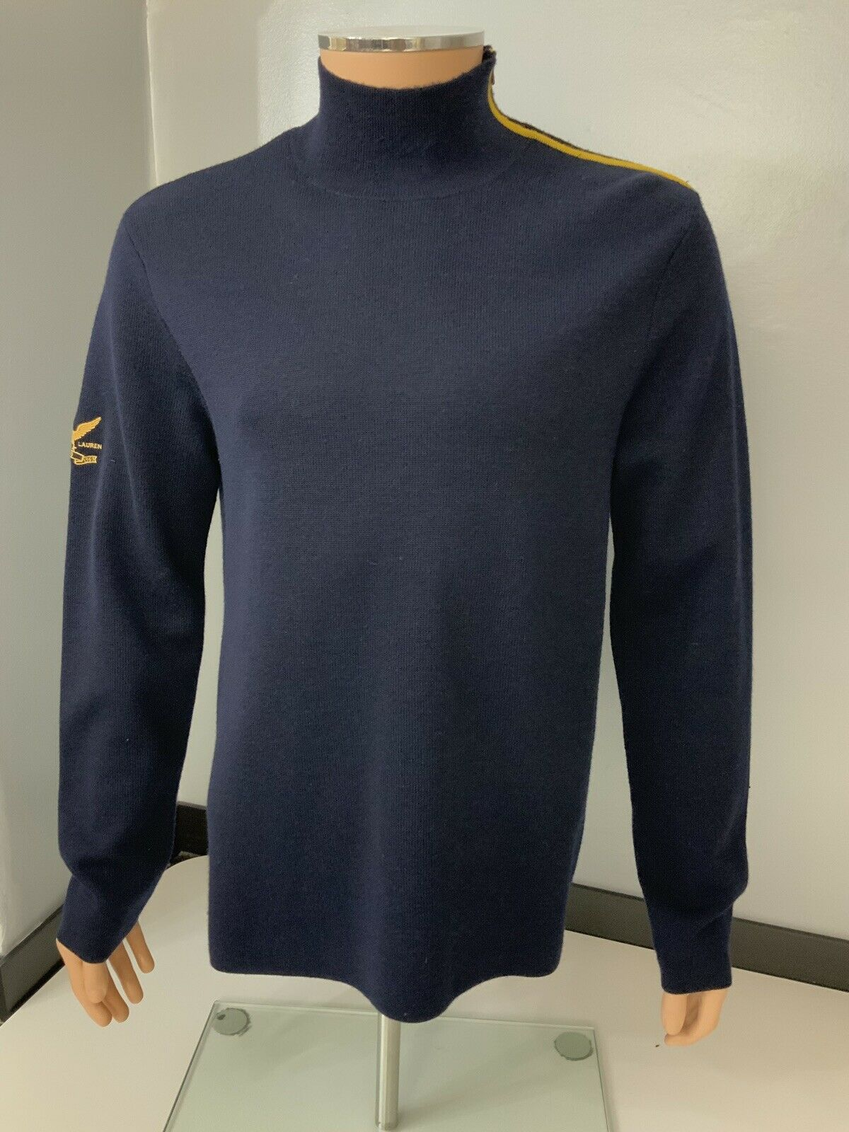 Ralph Lauren Polo Mens Jumper, Size Medium, M, bluee, Navy bluee Immaculate