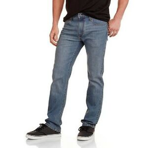 Faded Glory Men's Slim Straight Blue Jeans Size 30X30, 32X30