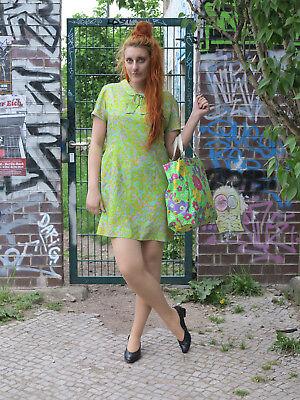 Premuroso Verde Chiaro Colorato Pastello Abito Estivo Vestito 60er Rockabilly True Vintage 60s Dress-mostra Il Titolo Originale