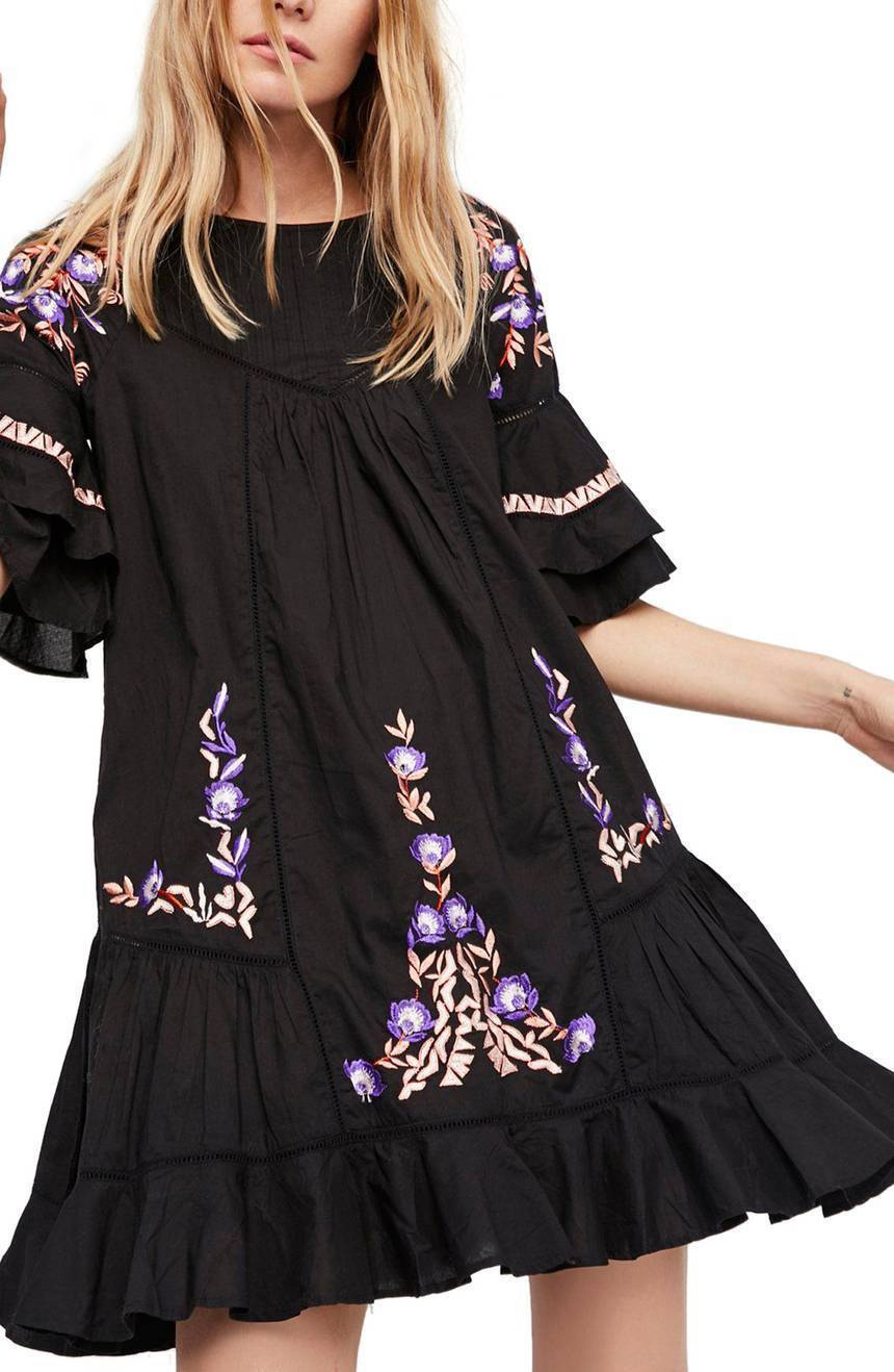 NWT Free people Pavlo Babydoll Dress Retail Größe XS