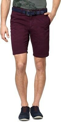 Allen Solly Solid Mens Purple Basic Shorts (Flat 50% OFF) - 846