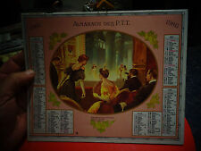 Oberthur Post Calender 1986 Gravure Scène de vie Epoque Art Nouveau et Art Déco