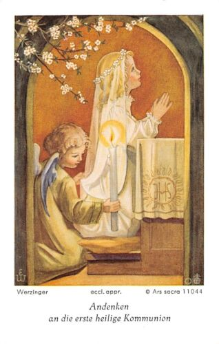 "Santo figurita imagen gebetbild werzinger Holy card Ars sacra /""h1001/"""