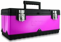 The Original Pink 20 Inch Steel Tool Box Holds Stubby Tools