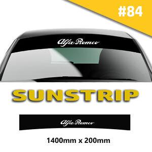 Alfa Romeo Sunstrip Car Stickers Decal Graphics Windscreen Stripes