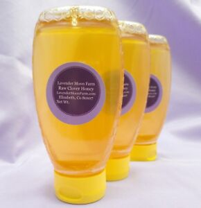 Details about 1 lbs squeeze bottle Raw Colorado Clover Honey for Lavender  Moon Farm