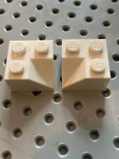 PN 3046 White LEGO Brick 2x2 Slope 45° Double Concave pack of 2