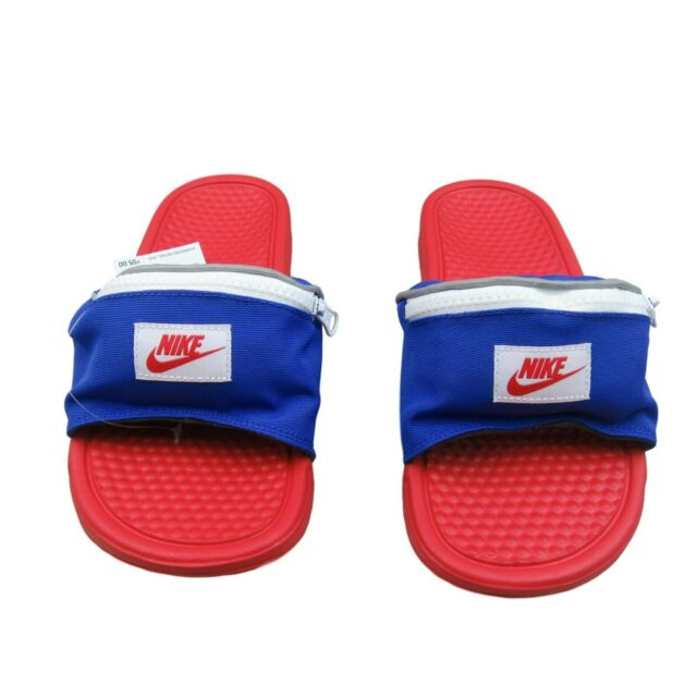 Imperio musical Mujer  Nike Benassi JDI Fanny Pack Red / Blue Slides Ao1037 601 Size 9 for sale  online | eBay