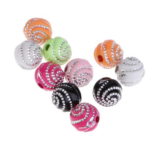 100 Stück Sortierte Farbe Harz Perlen Spacer Beads Charms Zwischenperlen