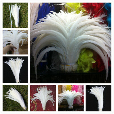 Hot Selling 10-500pcs Golden//Silver Natural pheasant feather 25-30 cm//10-12 inch