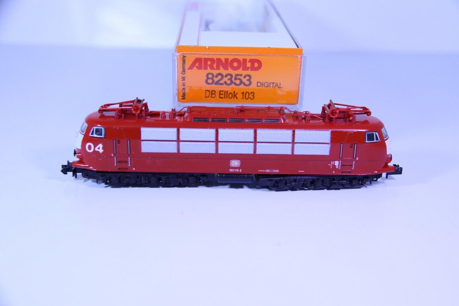 promociones de equipo Arnold Arnold Arnold pista n 2353 e-Lok br 103 115-2 rojo de la DB en embalaje original (rc1866)  edición limitada