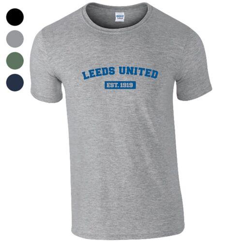 Leeds United F.C VARSITY EST. Personalised Mens T-Shirt