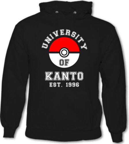 Università di Kanto-Da Uomo Divertente Felpa Con Cappuccio Pokemon Pokeball
