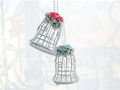 Luxe White Bird Cage Wedding Gift Box Favors Metal Birdcage Candy Table Deco