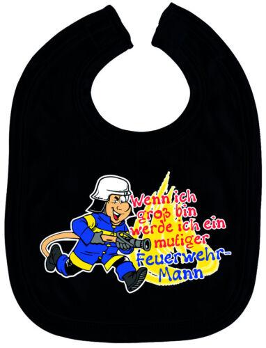 Lätzchen werde Feuerwehr-Mann Baby Jungen Schlabberlätzchen Black 07081