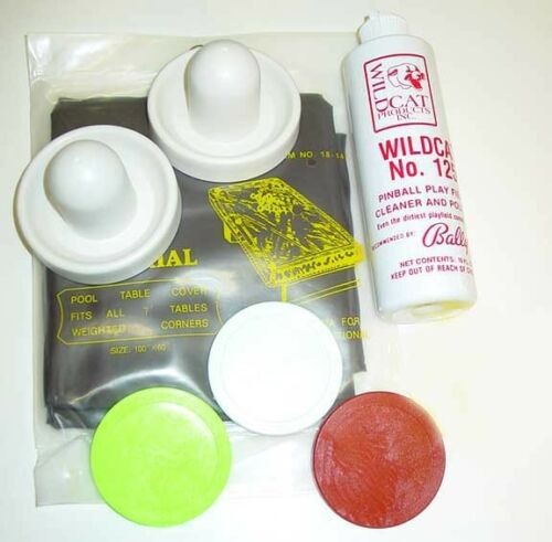 Commercial Air Hockey Table Assessory Kit Paddles Pucks Cleaner Table Cover