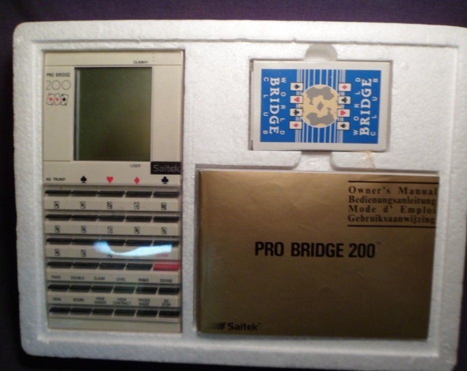 1989 Saitek Electronic Pro Bridge 200 game