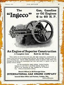 1915 Hercules Gas Engine New Metal Sign Evansville LARGE SIZE 12 x 16 IN