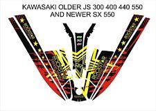 kawasaki 550 sx js 300 400 440 jet ski wrap graphics pwc stand up jetski decal 1