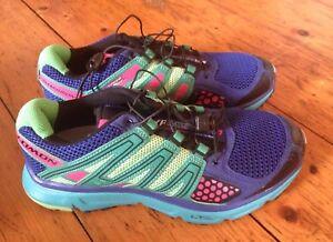 Men-Size-7-Salomon-Shoes-Mission-XR-Vibrant-Colors-Running-Hiking-Mint-Shape