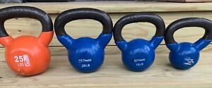 Yes4All Vinyl Coated Kettlebell Weights Full Body Workout Set 4 Various Weights