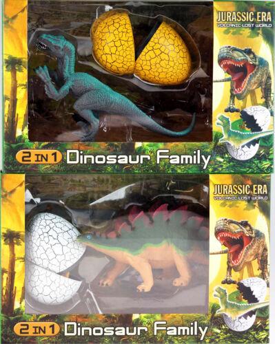 Set di 2 figure di dinosauro con mini DINO giocattolo in Uovo