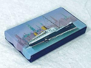 "Lackerli-Huus Candy Co ""EUROPA Ocean Liner"" Sliding Tin (empty)  Excel Condition"