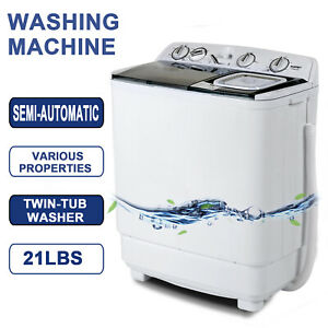 21LBS-Mini-Semi-Automatic-Compact-Washing-Machine-Twin-Tub-Washer-Spiner-Laundry