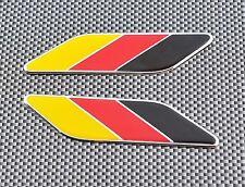 2 x GERMAN  FLAG DECAL TRI-COLOR EMBLEM BADGE FOR PORSCHE AUDI VW BMW MERCEDES