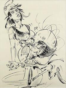 """Valéry Giscard D'estaing Politique Marianne:dessin Pour Le Journal """"minute"""""""