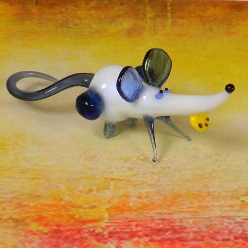 Glass Blown Art Figurine Murano Style  Animals Mouse # 301