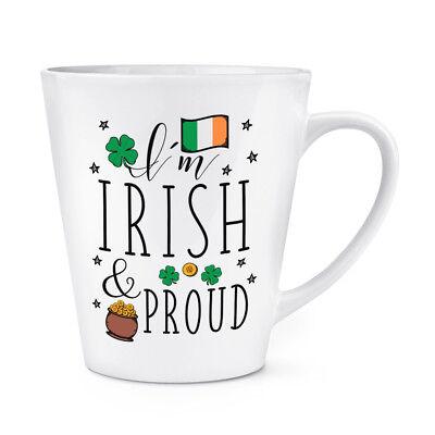 Craic Addict 341ml Latte Becher Tasse Lustig Irland Irisch Crack Flagge