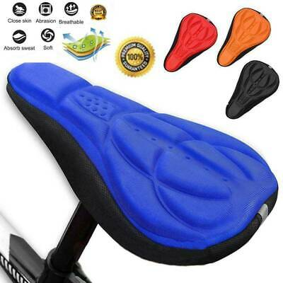 Cycling Bike Saddle Soft Cushion Bicycle Ride Seat Cover Padded Breathable Gel