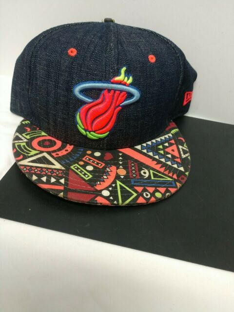 New Era 9Fifty Miami Heat Hat Men's Cap 90s style print