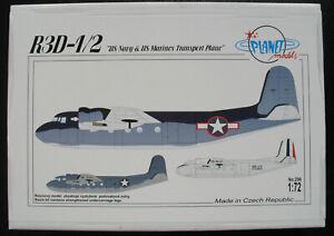PLANET-Models-256-R3D-1-2-US-Navy-amp-Marines-Tranport-Plane-1-72-Bausatz-KIT