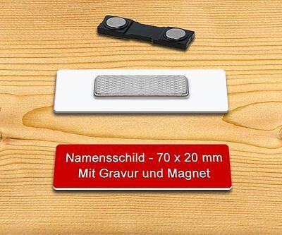 Namensschild Anstecknadel Ansteckschild Gelb//Rot Anstecker mit Wunschnamen
