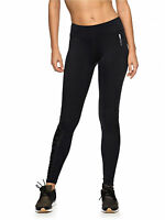 Roxy Womens Compression Leggings.new Running Sports Black Gym Pants 7w 3129 Kvjo