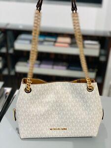 Details about Michael Kors Small Medium Messenger Shoulder Chain Bag Handbag Purse Vanilla