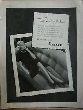 1937 Vintage Kayser Be Wiser Hosiery Stockings for Leading Ladies Fashion Ad