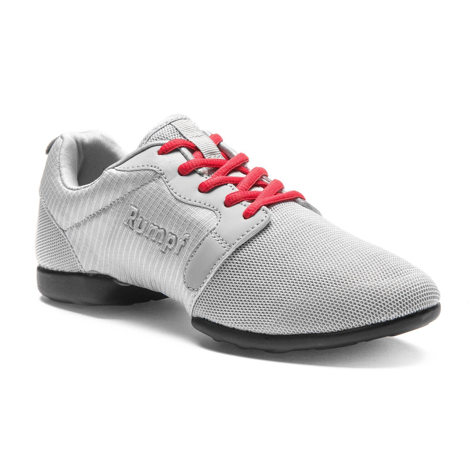 Rumpf Mojo Dance Lindy Hop Swing Tanz Trainings Schuh grau rote Schnürsenkel