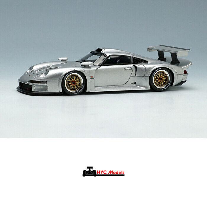 Make Up EIDOLON 1 43 Porsche 911 GT1 1996 EM328D silver