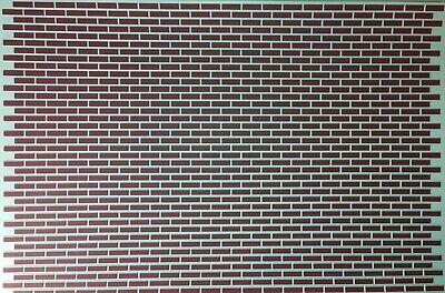 Dollhouse Miniature Orange White Black Green Wall Tiles Textured 1:12 Scale