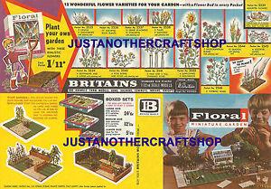Britains-Floral-Jardin-decada-de-1960-Grande-A3-Tamano-POSTER-TIENDA-LETRERO-ANUNCIO-FOLLETO